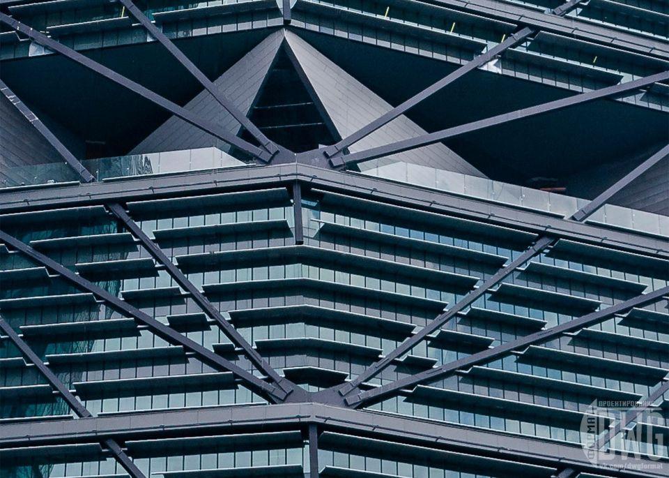 """Torre Reforma - крупнейшее сейсмостойкое здание в МехикоTorre Reforma, 246-метровая башня с 57 этажами, спроектированная бюро LBR & Arquitectos и инженерной группой Аруп, расположена на Пасео-де-ла-Реформа, широком проспекте, который проходит через центр Мехико.Интересно, что башня возведена над существующим историческим зданием 1929 года постройки. В период строительства дом был вынесен в сторону, а после - возвращен на место, заняв место в нижнем уровне лобби (под зданием была устроена монолитная ж.б. плита, а под ней - направляющие для перемещения).Башня имеет треугольную в плане форму. Ее главный фасад имеет панорамное остекление, в то время как два других выполнены в монолитном железобетоне. Верх башни заужен фасками. Необычный """"бетонный"""" дизайн ссылается на колониальную мексиканскую архитектуру, где широко использовалась отделка из грубого камня.Еще одна особенность башни Torre Reforma заключается в ее сейсмостойкой конструкции. В башне применены железобетонные стены-диафрагмы, соединенные мелкими элементами называемыми связевые балки, которые помогают рассеивать энергию сейсмики. Для моделирования сейсмических условий инженеры Аруп использовали данные землетрясений за 2500 лет.#небоскребы #сейсмика #мексика"""