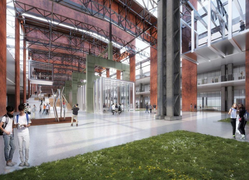 Реконструкция сталелитейного завода под Академию искусств в ШанхаеСтудия GMP выиграла конкурс на реконструкцию цеха по производству нержавеющей стали Шанхайского сталелитейного завода под Академию изящных искусств. В соответствии с популярной тенденцией адаптивного повторного использования зданий, в проекте сохранены основные конструкции цеха общей протяженностью 860 м, а также вентиляционные башни.Главная особенность проекта - наличие огромного центрального пространства, протянувшегося по всей длине цеха, с востока на запад.На примыкающих площадях расположатся учебные студии, форумы, библиотеки, спортивные блоки, выставки и пункты общественного питания. Фасады здания получат двухслойное панорамное остекление, усиленное металлической сеткой. Академия рассчитана на 4000 студентов и 600 преподавателей.Сталелитейный завод был построен в 1986 году и сыграл важную роль в становлении металлургической промышленности Китая. В 2016 году завод прекратил работу и был закрыт. Спустя несколько лет площадка завода была выбрана властями в качестве строительства нового культурного кластера. После реконструкции бывшее здание цеха по производству нержавеющей стали центром этого кластера.#реконструкция #китай