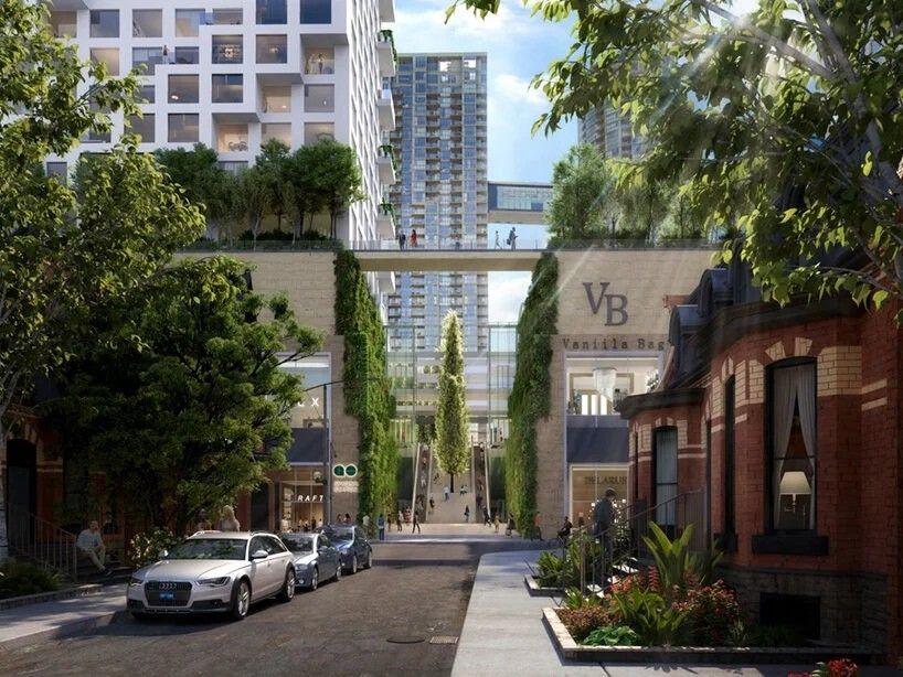 """В Канаде построят жилой мега-комплекс, состоящий из девяти связанных между собой башенИзвестная архитектурная студия Safdie Architects представила визуализации проекта нового """"сердца"""" Торонто. Проект ORCA предполагает строительство комплекса высотных зданий, соединенных воздушными мостами в разных уровнях. Мосты будут иметь несколько этажей, на которых разместятся жилые и офисные помещения, а сверху будут разбиты сады.Благодаря наличию мостов, внутри комплекса будет все необходимое для жизни, работы и досуга, а жители получат дополнительный стимул для взаимодействия и развития чувства общности. Конструктивная часть башен и мостов разрабатывается международной инженерной компанией Arup Engineering. На площади вокруг зданий также будет разбит многоуровневый парк, проект которого разрабатывается PWP Landscape Architecture.Всего планируется построить девять башен, из которых одна офисная и восемь жилых. В настоящее время проект пребывает в стадии общественных обсуждений.Идея строительства ORCA принадлежит Safdie Architects, которые специализируются на проектах таких мега-комплексов. На счету Safdie Architects - известные реализованные проекты, такие как отель Marina Bay Sands в Сингапуре и Raffles City в Чунцине.#небоскребы #канада"""