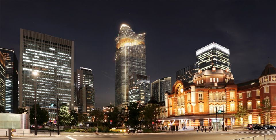 """В Токио строят Torch Tower - самое высокое здание в странеПроект самого высокого небоскреба в Японии, Torch Tower, разрабатывает бюро Sou Fujimoto Architects. Главной особенностью башни высотой 390 метров станет огромная общественная площадь """"Plaza"""", расположенная в верхней ее части. Надстройка над """"Plaza"""" будет иметь форму пламени, что, собственно, соответствует названию объекта - """"Факел"""".В визуализации проекта, представленной разработчиками, площадь показана как большое полуоткрытое пространство, имитирующее волнистый холм, засаженный зеленью, откуда открываются панорамные виды на город.Здание будет насчитывать 63 этажа над землей и 4 подземных уровня. В башне будут располагаться офисы, отель, коммерческие и торговые точки. Небоскреб также будет иметь прямое сообщение с расположенным рядом Токийским вокзалом.#небоскребы #япония"""