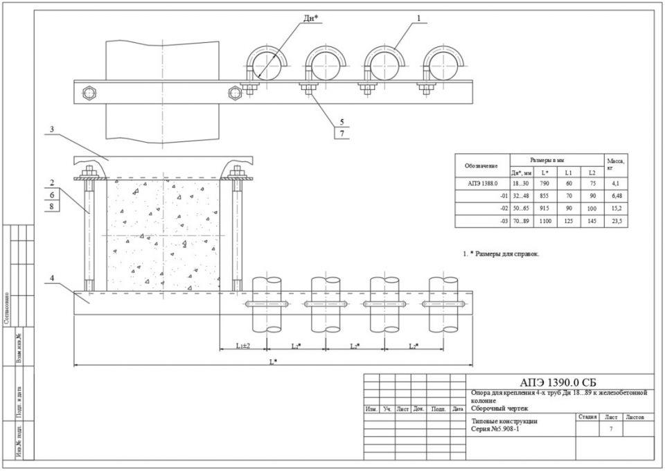 Серия 5.908-1. Типовые узлы крепления трубопроводов установок автоматического пожаротушения.Рабочие чертежи в формате DWG и PDF.Скачать в формате DWG (https://clck.ru/Rut67)Скачать в формате PDF (https://clck.ru/Rut6s)#типовыепроекты #dwg