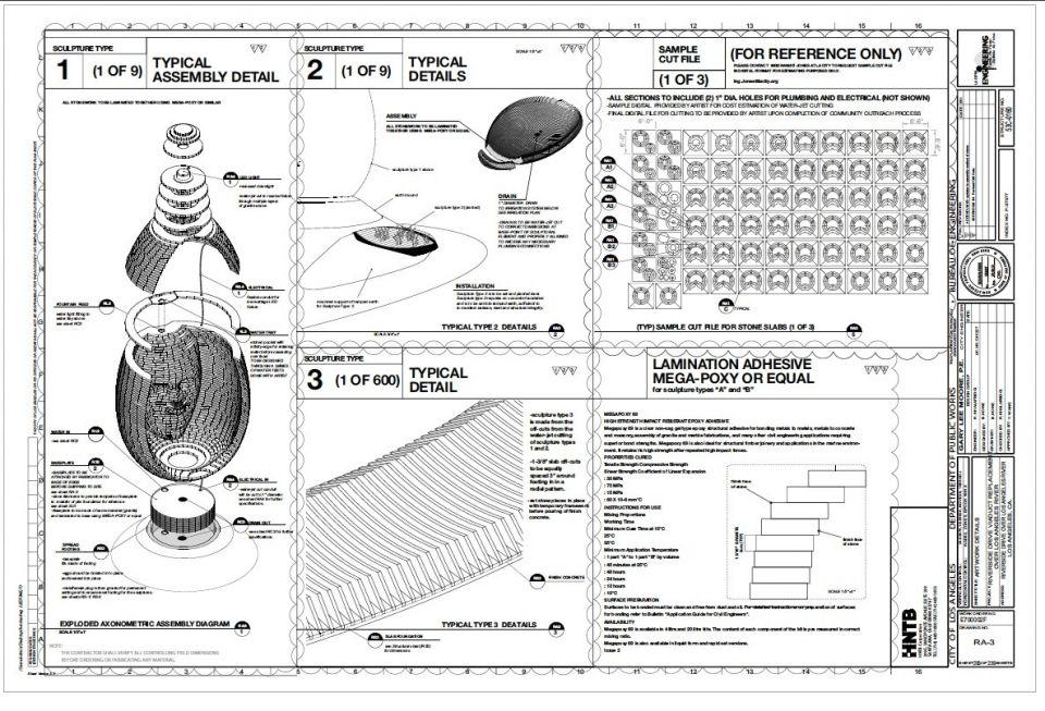 Транспортное кольцо, собирающее водуВ 2017 году в Риверсайде (Калифорния, США) построена небольшая, но интересная транспортная развязка-кольцо по проекту бюро Greenmeme. В рамках проекта решены сразу несколько задач: собственно, сама развязка, отвод ливневых стоков, независимость от внешних инженерных ресурсов и необычный эстетический внешний вид.В центре круга, ниже уровня земли организован резервуар, служащий для приема дождевых вод с дороги. Его вместимость – порядка 100 кубических метров, а поступающая вода направляется на орошение ландшафтного парка, в котором собраны местные водолюбивые растения.Поступающая с дороги вода дренируется в резервуар через решетки, выполненные из местного гранита. Из этого же материала созданы и скульптуры – огромные лица. Камень нарезан на плоские плиты на станке с ЧПУ по 3D-модели, а затем эти плиты сложены в нужной последовательности так, чтобы образовались скульптуры. Моделями для лиц послужили живые люди, случайно выбранные из местных общин. Все отходы и обрезки использованы для создания внешнего круга вокруг парка.Работа всего комплекса, включая перекачку воды дренажными насосами, освещение развязки и скульптур в темное время суток обеспечивается электроэнергией, аккумулируемой солнечными батареями.#инфраструктура #дизайн #канализация #сша