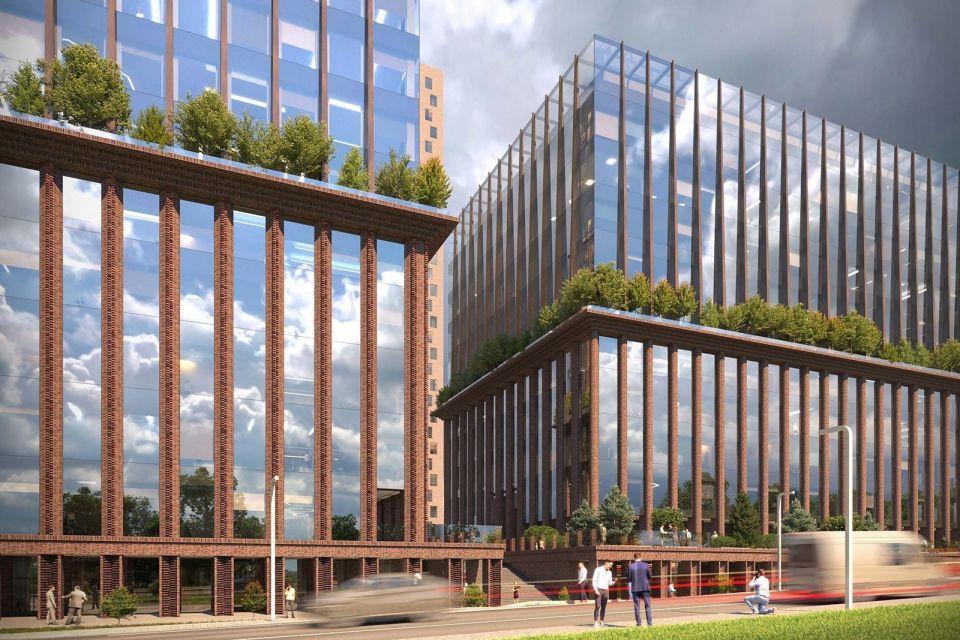 В Москве в рамках строительства офисно-делового центра будет восстановлена историческая башняНовый комплекс будет состоять из двух офисных корпусов высотой 11 и 12 этажей, расположенных на стилобате. Кровля этой общей части здания будет эксплуатируемой – на ней организуют общественное пространство с декоративным мощением и озеленением.В стилобате разместятся магазины и кафе, а подземную часть отведут для парковки на 88 машиномест и пять мотомест, а также технические помещения.Визуально комплекс разделен карнизом на две части. Нижняя состоит из фактурных кирпичных пилонов из формованного кирпича и витражного остекления – она более массивная и служит основанием для верхней, которая представлена сужающимися пилонами из кортена и витражного остекления, что создает ощущение легкости и устремленности вверх.На высоте 20 метров расположится декоративный карниз: он послужит визуальным разделителем двух частей. Историческая башня расположится с западной стороны здания.Благоустройство территории делится на две зоны: активного транзита и спокойного отдыха. Через первую посетители попадают внутрь бизнес-центра – вдоль проходов расположится общественная инфраструктура, предприятия общественного питания и торговли. Зона отдыха представлена террасами, спускающимися с юго-восточной части стилобата.Работы проведут по адресу: Жуков проезд, д. 8 в районе Даниловский. Площадь объекта составит около 46 тыс. кв. метров. Проектировщик – ООО «СПиЧ Град». Проект согласовала Москомархитектура.#общественныездания #россия