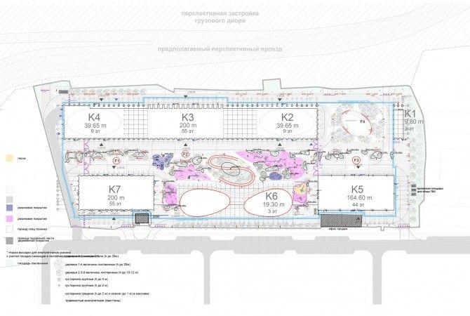 «ЦЕНТРАЛЬНЫЙ» КОНТЕКСТ БУДУЩЕГО ГОРОДСКОГО ОКРУЖЕНИЯ - ВЫСОТНЫЙ ЖК MODМесто строительства жилого комплекса премиум-класса MOD, который Kleinewelt Architekten спроектировали для MR Group – непростое, но многообещающее. Участок примыкает к территории, на которой планируется реализовать внушительный проект штаб-квартиры РЖД. В 400 метрах к западу строится выход из станции БКЛ «Марьина роща», с севера в 300 метрах – МЦД-2. Здесь планируется значительный ТПУ. Словом, это место роста. ЖК MOD строится на территории бывшей промзоны площадью чуть более 2,4 га. Участок вытянут в идеальном направлении юг-север, – оно дает максимум западных и восточных фасадов, не слишком теневых и не слишком жарких. До начала строительства здесь располагались два протяженных, параллельных друг другу объема, – новый комплекс в целом наследует  их компоновку: жилые башни, две по 200 м, одна 165 м, и здания меньшей высоты выстроены в две параллельные линии и чередуются между собой через одного, в порядке, близком к шахматному. Интересно, что «линии» трактованы по-разному исходя из понимания авторами проекта специфики окружения – но не нынешнего, а того, которое сформируется после строительства штаб-квартиры РЖД на месте грузового двора. Штаб-квартира, согласно замыслу Nikken Sekkei, должна быть нанизана на крытую внутреннюю улицу и в целом создать новый центр деловой и прочей активности. Так что в будущем восточная сторона, обращенная к штаб-квартире, окажется типологически более «городской». Соответственно, авторы проекта придали этой части в большей степени городской характер. Одна башня и два 9-этажных дома высотой 38.3 м выстроены на протяженном 2-этажном стилобате 9-метровой высоты с кафе и магазинами внутри. Его фасады решены как строгая пилонада, со стороны штаб-квартиры вдоль витрин тянется пешеходная галерея. В северной части стилобат прерывается: здесь, дальше от центра штаб-квартиры, расположена квадратная общественная площадь, открытая к востоку, а в торце участка огражденная поперечн