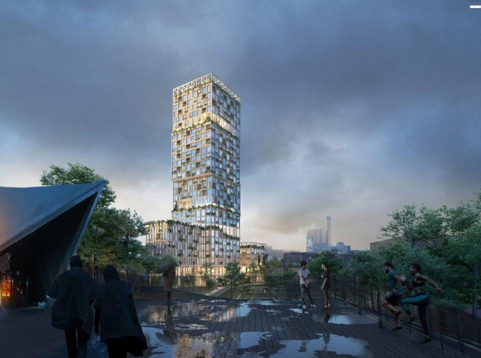 В Берлине строят вертикальный район из деревянных конструкцийТандем архитектурных фирм Mad Arkitekter и Mud Landscape Architect выиграли международный конкурс на проектирование вертикального квартала в Берлине. Проект Woho предполагает строительство здания высотой 98 метров, которое будет насчитывать 29 этажей. Башня будет выполнена из гибридной древесины и станет самым высоким зданием такого типа в Германии.Общая площадь здания составляет 18000 квадратных метров. В соответствии с концепцией оно будет представлять из себя небольшой автономный городской район, включающий наборку жилых и офисных центров, а также необходимые объекты социальной сферы, такие как школа, детский сад, пищевые производства и мастерские.Конструкция здания будет состоять из четырех отдельных объемов с внешней общественной лестницей, обеспечивающий свободный доступ с улицы на террасу, расположенную на крыше. Башня будет иметь значительное озеленение и должна гармонично вписаться в окружающий городской ландшафт с улицами и парками.#деревянныеконструкции #небоскребы #германия