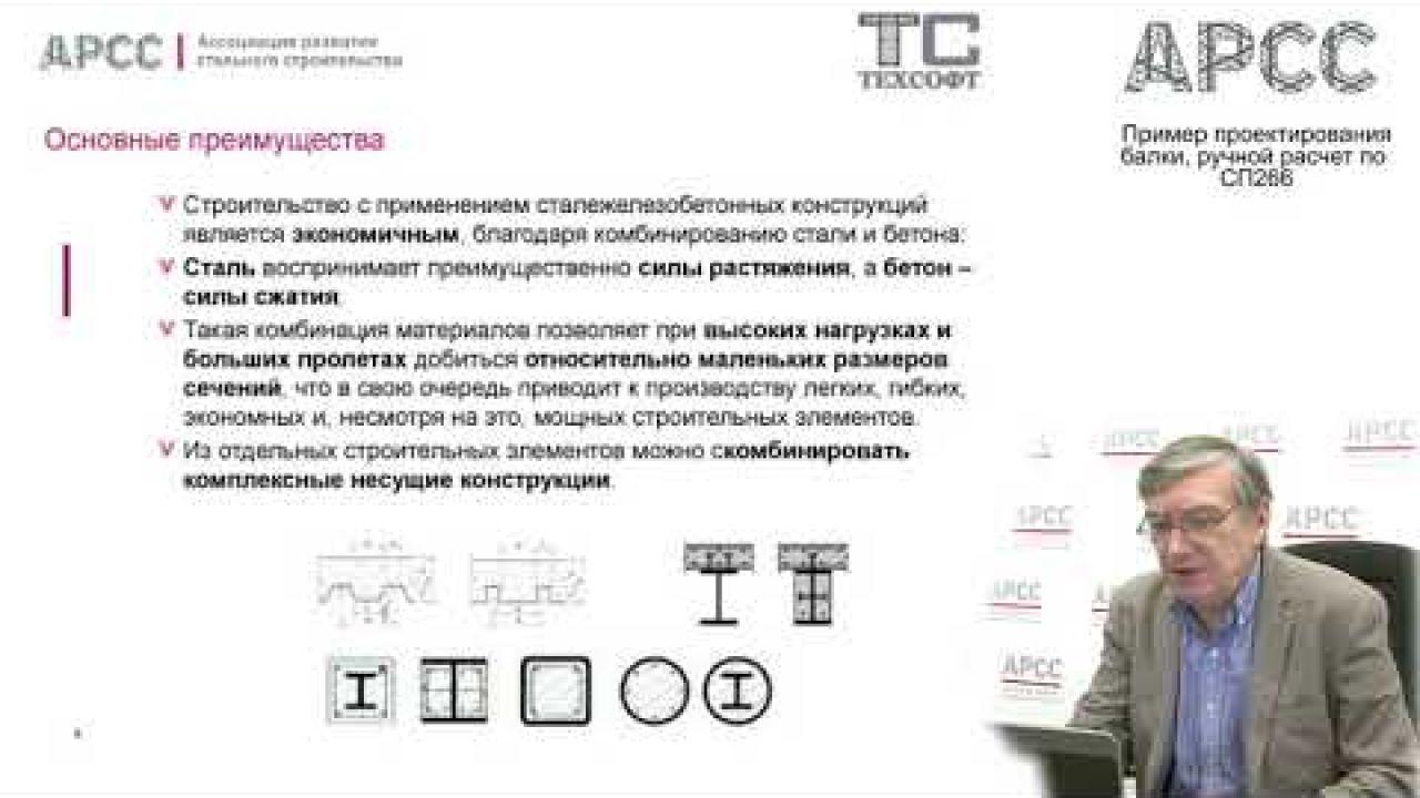 Пример проектирования балки, ручной расчет по СП266