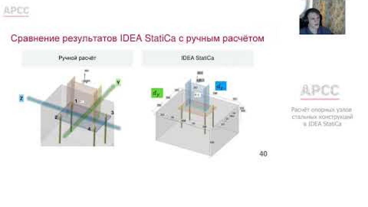 Расчёт опорных узлов стальных конструкций в IDEA StatiCa